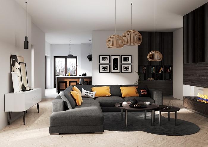 Apartament B2 Styl Nowoczesny - Salon 02