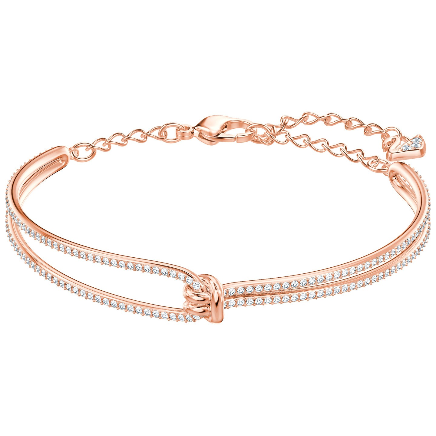 Swarovski-Lifelong-Bangle-White-Rose-gold-plating-5390818