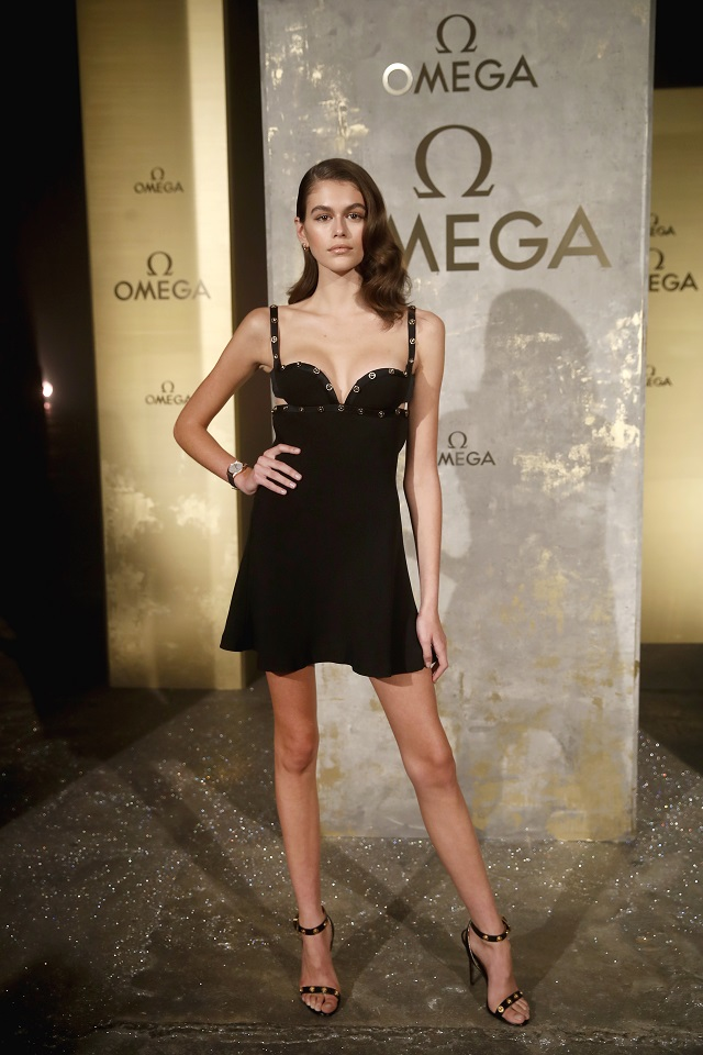 BERLIN, GERMANY - MAY 02: Model Kaia Gerber attends the OMEGA Tresor Event at Kraftwerk Mitte on May 2, 2018 in Berlin, Germany. (Photo byFranziska Krug/Getty Images for OMEGA)