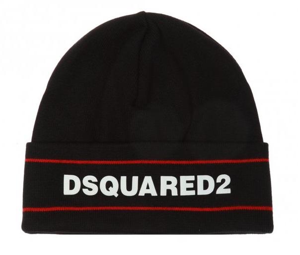 Dsquared2 Wełniana czapka zlogo